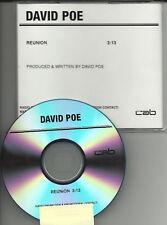 DAVID POE Reunion RARE TST PRESS PROMO DJ CD Single 1997 MINT USA 2005