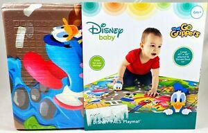 "New Disney Baby Pals Playmat With Donald Duck Car Mickey & Minnie 47x35"" NWT"