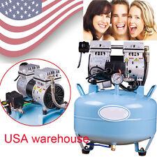 USA stock Dental Medical lab Noiseless Oil fume Oilless Air Compressor 130L/min