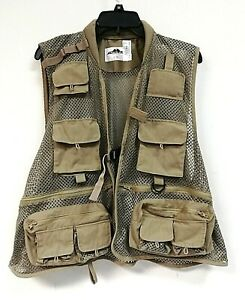 Podium Men's Fly Fishing Vest, Tan, Size L/XL - 0G_76