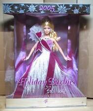 2005 Holiday Barbie Doll by Bob Mackie - Burgundy Dress NEW NRFB