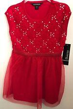 George Girls Red Sequin Sleeveless Tutu Dress Holiday Christmas XS 4/5 NWT