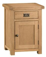 Montreal Rustic Oak Small 1 Door Cupboard - Solid Wood Cabinet with 1 Drawer