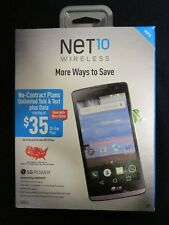 New Sealed in Box NET10 LG POWER Android 5.0 Lolipop , Prepaid  3G Smartphone