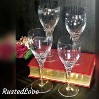 4 Vintage Gorham Augusta Crystal Glasses 2 Water Goblets 2 Wine Glasses Blown