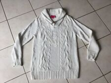 Pull VICOMTE A taille L coton  blanc grosse maille