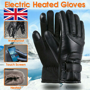Electric Heated Gloves Warmer Hand USB Rechargeable Outdoor Motorcycle Mittens