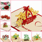 Pop Individuality 3D Pop Up Handmade Birthday Wedding Invitation Greeting Cards