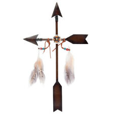 Arrow Cross Metal Wall Décor Antique Style Brown Very Unique Gift