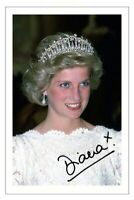 PRINCESS DIANA Signed Autograph PHOTO Signature Print ROYAL FAMILY