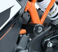 Pair of R&G Black Aero Crash Protectors for KTM RC 390 2016