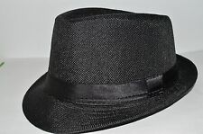 18d268f5f6e Men s Cuban Style Fedora Trilby Hat Gangster Panama Short Brim Cap Sunhat