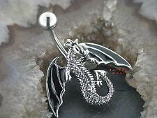 Bauchnabelpiercing DRACHEN Dragon Gothic Fabelwelt Bauchnabelbanana 8mm oder10mm