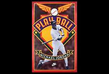 Michael Jordan PLAY BALL Nike 1994 Baseball Chicago White Sox POSTER