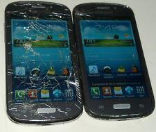 Lot of 2 Samsung Galaxy Admire 2 SCH-R830C  4GB  Silver Cricket Cracked Glass