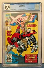 X-FORCE 15 CGC 9.4 WP 4TH FULL DEADPOOL APP. VS. CABLE COVER