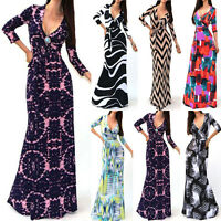 Sexy Womens Lady Summer Boho Party Dress Beach Dresses Casual Long Maxi Dress