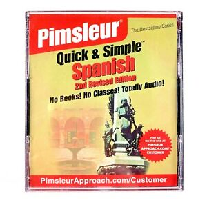 BRAND NEW SEALED Pimsleur Quick and Simple Spanish 2nd Revised Edition Audio CD