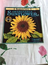 ORANGE CRATE LABEL SUNFLOWER FLORAL RIALTO VAN GOUGH WASHINGTON NAVELS ORIGINAL