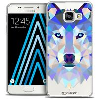 Coque Housse Etui Pour Galaxy A3 2016 (A310) Polygon Animal Rigide Fin - Loup