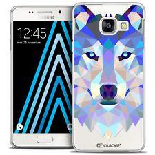 Coque Housse Etui Pour Galaxy A3 2016 (A310) Polygon Animal Rigide Fin - Loup