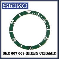 • SEIKO SKX 007 / SKX 009 Ceramic, Green Bezel Insert, Premium Quality •