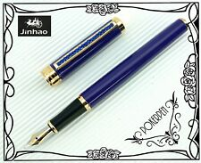 FREE SHIP F5 JINHAO Fountain Pen BLUE barrel + 5pcs  POKY cartridges BLACK ink