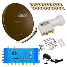 Fuba SAT Spiegel Schüssel ALU 85cm DAA850B DIGITAL+Multischalter 5/8+HB HD LNB