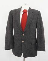 Harris Tweed Sakko Gr.25 grau meliert Einreiher 2-Knopf Wolle -C257