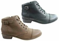 NEW HOMYPED ENORA WOMENS COMFORTABLE SUPPORTIVE LEATHER ANKLE BOOTS