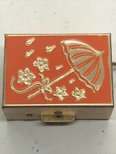 Vintage Pill Box Brass Medicine Travel Box