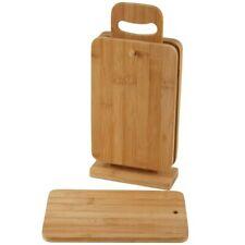 Stullenbretter Bamboo 4 Piece Bread Board Cutting Boards Incl. Stand