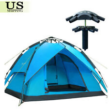 Hydraulic Rapid Self Pop Up Double Layer Camping Tent 3-4 Persons Waterproof New