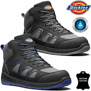 Mens DICKIES Safety Boots Leather Steel Toe Cap Work Ankle Trainers Hiking Shoes