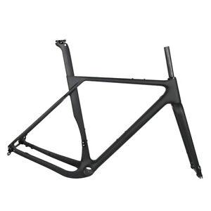 2021 New Gravel Bike Carbon Frame 700x40C Flat Mount Disc Cyclocross Frameset