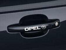 6 x Opel Aufkleber für Türgriff Astra Corsa Insignia Calibra OPC Emblem Logo