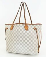 Authentic LOUIS VUITTON Neverfull MM Damier Azur Tote Bag Purse #35498