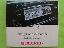 CD NAVIGATION BECKER INDIANAPOLIS 2.0 EUROPA VW AUDI MERCEDES BMW OPEL PORSCHE