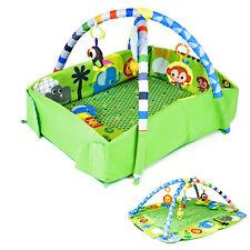 3 in 1 Krabbeldecke mit Spielbogen Musik Erlebnisdecke Baby Gymcenter Spielmatte