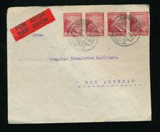 Chile, Flugpostbrief 1931 aus Arica nach San Antonio  (H41)