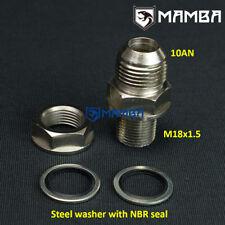 Mamba Turbo Oil Pan / Oil Return Drain Plug Adapter Bung Fitting 10An no Weld