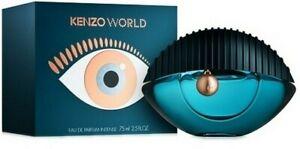 KENZO WORLD INTENSE EAU DE PARFUM SPRAY FOR WOMEN 2.5 Oz / 75 ml BRAND NEW!!!