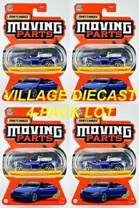 2021 Matchbox Moving Parts #16 2020 BMW M4 Cabriolet BLUE / 4-PACK LOT / MOC