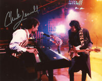 CHUCK LEAVELL SIGNED 8x10 PHOTO KEYBOARDIST FOR ROLLING STONES RARE BECKETT BAS