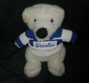 "9"" VINTAGE 1985 COMMONWEALTH BABY BENETTON TEDDY BEAR STUFFED ANIMAL PLUSH TOY"