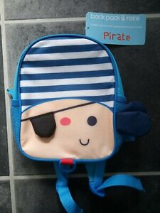 Red Kite Back Pack With Reins Pirate Theme New With Tags
