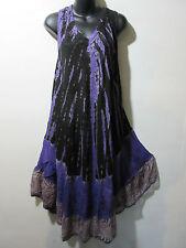 Fits 1X 2X 3X Plus Sundress Tunic Black Purple Lace Hem A Shape NWT g1354