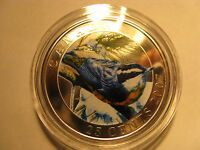 CANADA 2007 RED BREASTED NUTHATCH COLOURED OVERSIZE 25 CENT COIN BIRD SERIES