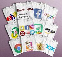 Halloween Social media Logos T-Shirts, Facebook, Twitter, Instagram, Snapchat.