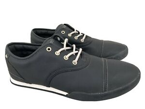 Near New MACBETH Gatsby Black Cement Vegan Sneakers Shoes US 8 #17211